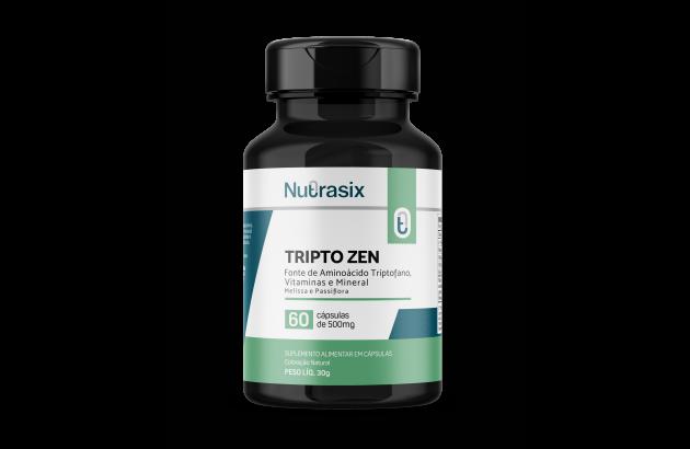 Tripto-Zen Calmante Natural 60 cápsulas - Nutrasix