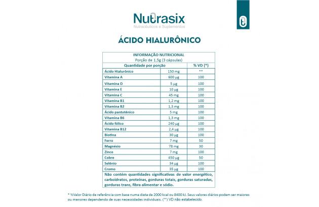 Ácido Hialurônico - 90 Cápsulas