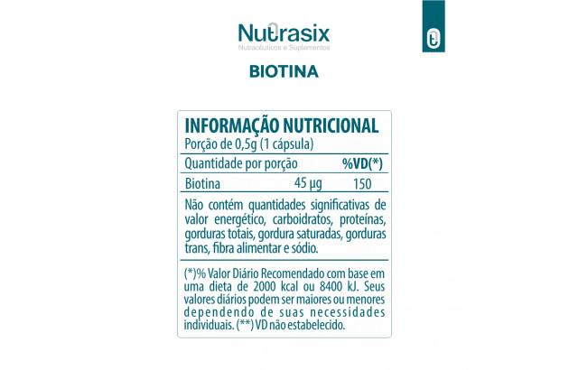 Biotina 60 cápsulas - Nutrasix