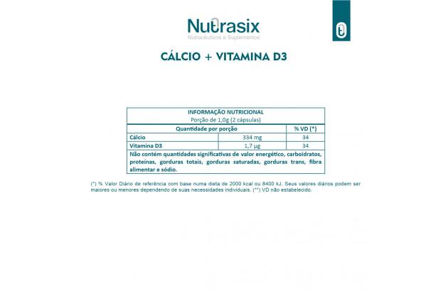Vitamina D3 + Cálcio - 60 Cápsulas