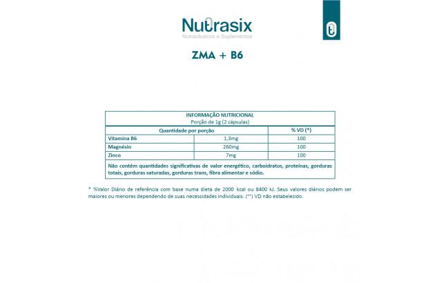 ZMA + B6 - 60 Cápsulas