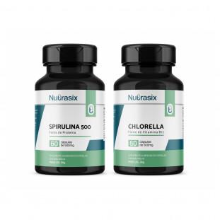 Kit Fibra Spirulina + Chlorella - Nutrasix